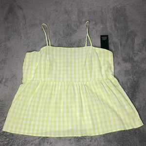 NWT Wild Fable Fit & Flare Gingham Cami